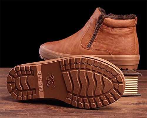 chaud color taille plus la hiver des bottes aider pour coupe camel neige ¨¤ male 44 Coton peluche ¨¦paisse de augmenter FxUdF1
