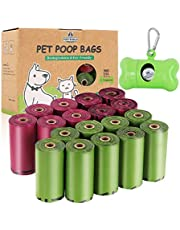 Biodegradable Dog Poop Bags | Pet Waste Bags with Dispenser and Leash Clip for Doggy, Eco-Friendly Leak Proof Disposal Refill Bags