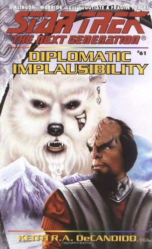 Download Diplomatic Implausibility (Star Trek The Next Generation, No 61) ebook