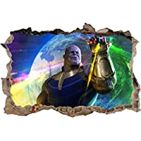 Thanos The Avengers Infinity War Marvel 3D Smashed Wall Sticker Decal Art J1276, Huge