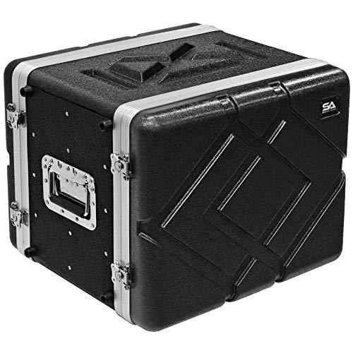 Seismic Audio - SALWR8M - Lightweight 8 Space Mid-Size ABS Rack Case - 8U PA DJ Medium Depth Amp Effects Rack Case (Dj Rack For Equipment)