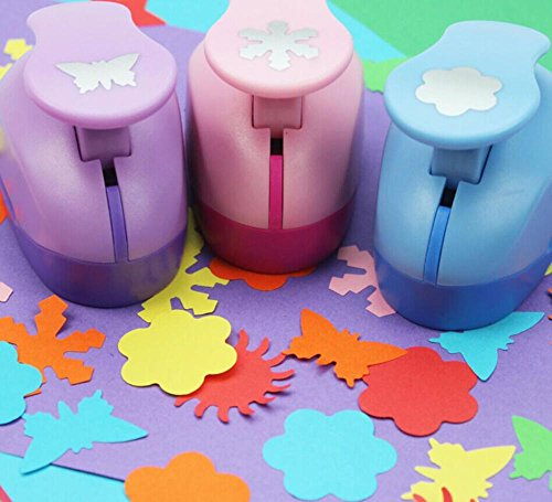 Franterd Embossing DIY Corner Paper Printing Card Cutter Scrapbook Shaper - Embossing Device Hole Punch - Kids Handmade Craft Gift (1, A)