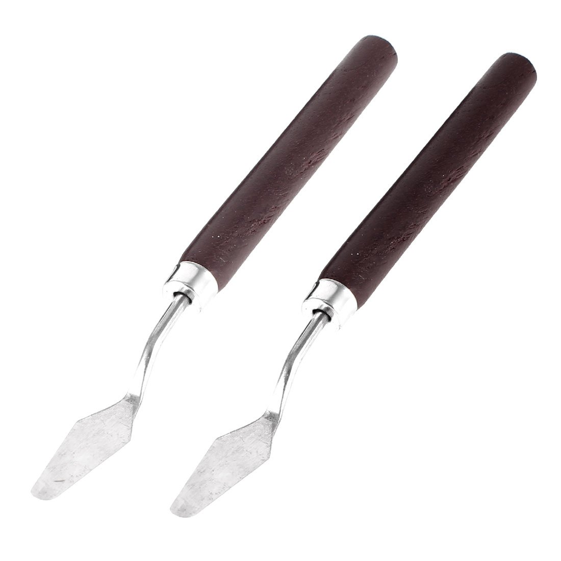 2pcs Wooden Grip Metal Blade Palette Art Painting Spatula Scraper 6.3 uxcell 4336973590