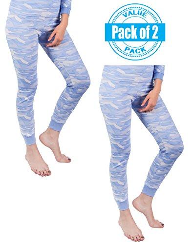 Andrew Scott Women's 2 Pack Long Thermal Fleece