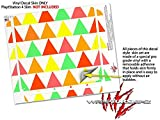 Triangles Citrus - Decal Style Skin fits Sony PlayStation 4 Slim Gaming Console