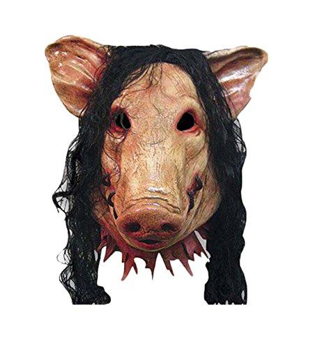 Lovaru Halloween Movie Cosplay Prank Costume Latex Mask (Saw Costumes)