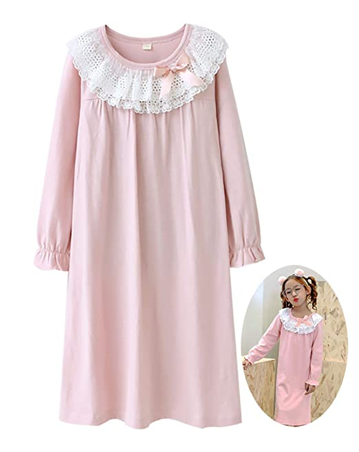 0c629c65f1 Zegoo Girls Long Sleeve Nightgowns Sleepshirts 3T 4T  Amazon.ca ...