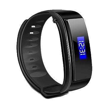 TKSATR Reloj Inteligente,Pulsera Inteligentes,Pulsera Actividad Inteligente,Fitness Tracker,Relojes Deportivos,Bluetooth V4.1 Headset Reloj Smartwatch ...