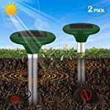 DAPRIL Solar Mole Repeller, 2 Pack- Repels Rodents, Moles, Gopher, Mice, Snakes for Yard Lawn Garden, Non-Toxic & Eco-Friendly