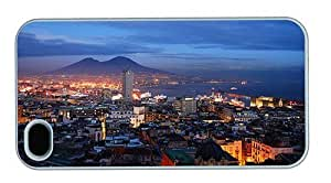 Hipster cassette iPhone 4S covers Italy napoli at night PC White for Apple iPhone 4/4S