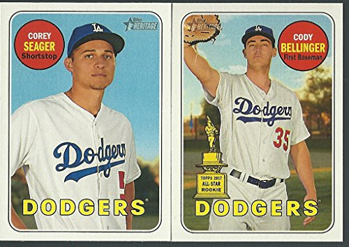 2018 Topps Checklist - 2018 Topps Heritage Los Angeles Dodgers Team Set 23 Cards Corey Seager Clayton Kershaw Cody Bellinger