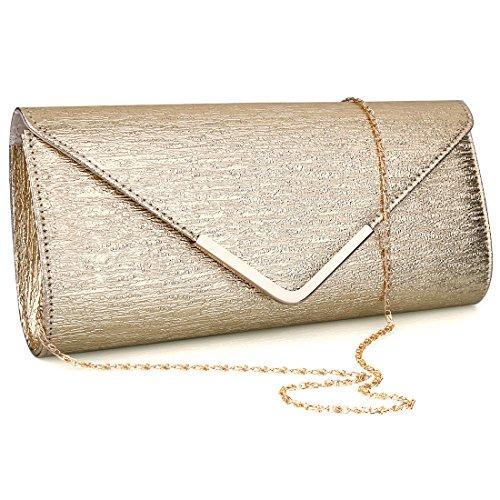 SSMK Evening Bags, Poschette giorno donna oro Gold