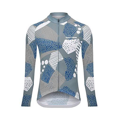 Uglyfrog Women/Ladies Long Sleeve Cycling Jersey Winter Fleece Coat Full Zipper with Back ()