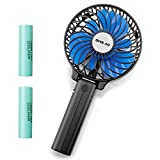 Appliances : OPOLAR Portable Operated Two 2200mAh Batteries, Personal Handheld Fan Folding Design, Compact Mini Size Travel & Camping, Strong Wind Wit 3 Settings