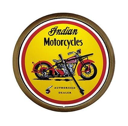 motorcycle themed wall clock