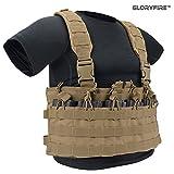 GLORYFIRE Tactical Vest Rapid Assault Chest Rig Elite Molle Law Enforcement Vest