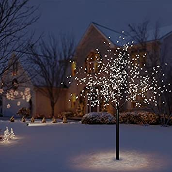 outdoor blossom tree led lights. light up 600 led blossom 7ft christmas tree indoor/outdoor outdoor led lights b