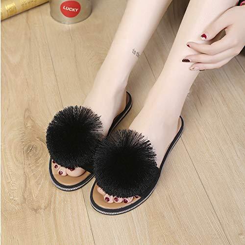 Scarpe Frange da Scarpe Le HBDLH In Marca E Le Pantofole black Scarpe Scarpe Di Donna Da donna Estate Di Aqwd001xv5