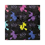 Happy Halloween Boo Black Shaman Wall Clocks for Living Room Decor Bedroom Bedside