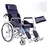 WONS Transport Wheelchair 20Kg Folding Ergonomic Comfortable Armrest Lifting Leg Hydraulic Control Backrest Seat 100