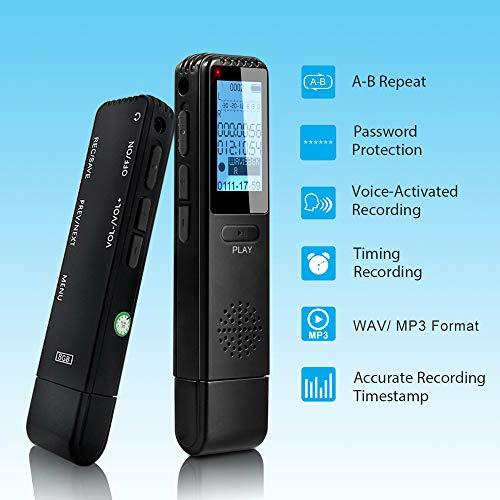 Maozua - Grabadora Digital de Voz con grabadora de Sonido ...