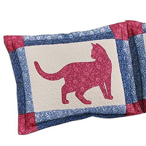 Cat Patchwork Pillow Sham