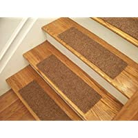 Essential Carpet Stair Treads - Style: Favorite - Color: Maple Brown - Size: 24 x 8 (13)