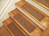 Essential Carpet Stair Treads - Style: Favorite - Color: Maple Brown - Size: 24'' x 8'' (4)