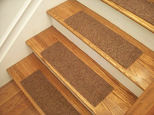 Essential Carpet Stair Treads - Style: Favorite - Color: Maple Brown - Size: 24'' x 8'' (13) by Essential Specialty Products