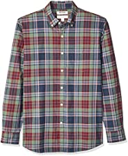 Amazon Brand - Goodthreads Men's Standard-Fit Long-Sleeve Lightweight Madras Plaid S
