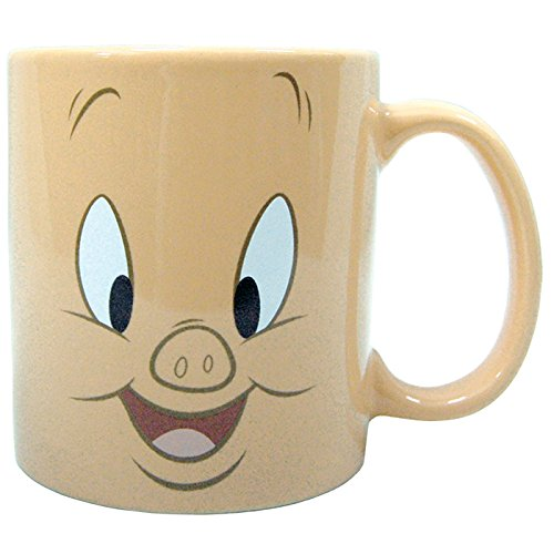 Westland Giftware Porky Pig Face Stoneware Mug, 14 oz, Multicolor