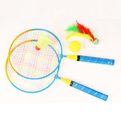 MAZIMARK-New 1 Pair Badminton Racket For Kids Outdoor Sports Toys With badminton by MAZIMARK
