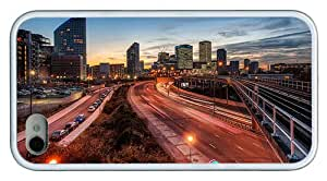 Hipster iPhone 4S the best case london evening TPU White for Apple iPhone 4/4S