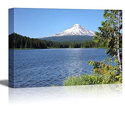 Beautiful Scenery Landscape Trillium Lake and Mt Hood Oregon Wall Decor, That's 100% USA Made, Marvelous Craft