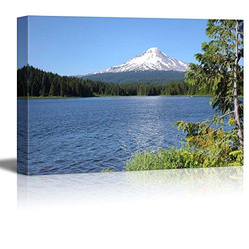 Beautiful Scenery Landscape Trillium Lake and Mt Hood Oregon Wall Decor ation