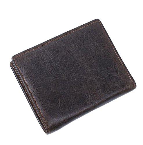 Genuine Deep Leather Men's Vintage Bifold Cowhide Liveinu Wallet Coffee2 q4B5wPx