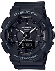 Ladies Casio G-Shock S-Series Black Step Tracker Watch GMAS130-1A