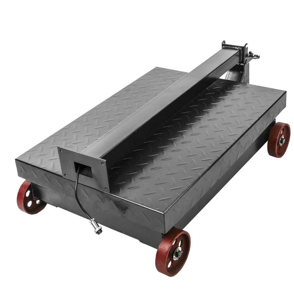 PrimeMatik - Balanza Industrial de Plataforma 40x50 cm báscula 200 Kg con Ruedas: Amazon.es: Electrónica