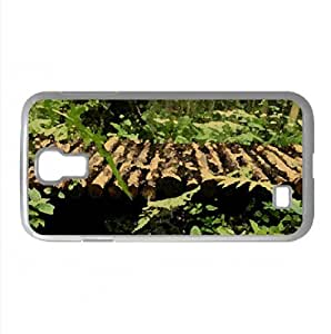 A Wooden Bridge Through The Forest Watercolor style Cover Samsung Galaxy S4 I9500 Case (Forests Watercolor style Cover Samsung Galaxy S4 I9500 Case)