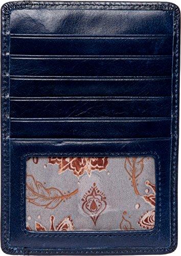Hobo Women's Leather Vintage Euro Slide Card Holder Wallet (Indigo) (Slide Euro)