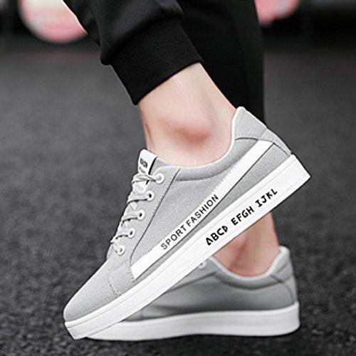 tela Color YaNanHome basse Nuove da scarpe casual uomo Size stile scarpe di di da sportivo basse da selvaggio Gray 42 Espadrillas primavera scarpe tavola Scarpe uomo Black A5AqB8w