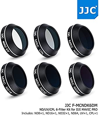 JJC UV CPL ND8 ND16 ND32 ND64 6 Filters Kit for DJI Mavic Pro Drone Quadcopter Camera Accessories Aluminum Frame//Multi Coating//with Silica Gel Dehumidifier Desiccant Anti-Moisture Seal Case