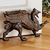 Design Toscano The Growling Griffin Foundry Iron Doorstop (Set of 2)