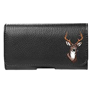 for Motorola Moto G 3rd Gen 2015 Faux Leather Deer Pouch Belt Clip Case Cover Stylus Pen Velocity ™