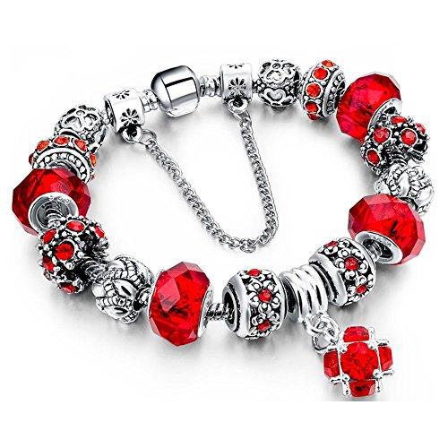 Morenitor Beaded Bracelet Handmade Sterling
