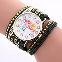 Womens Watch,Howstar Womens Elephant Pattern Chimes Leather Analog Quartz Vogue Watches