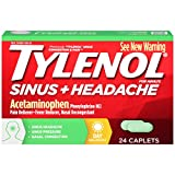 Tylenol Sinus Congestion And Pain Caplets, Daytime, 24 Count