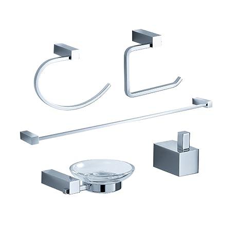 Charmant Fresca Bath FAC0400 Ottimo 5 Piece Bathroom Accessory Set, Chrome