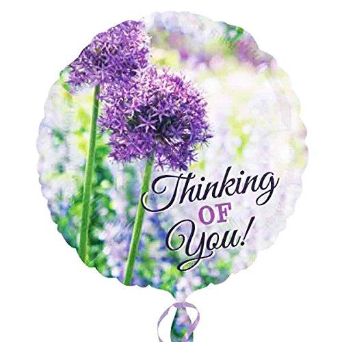 Burton & Burton Thinking of You Allium inch Foil Balloon, -