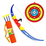 Wowok Kids Toy Archery Bow and Arrow Set with Target Quiver and 3 Suction Cup Shot Bow for Boys Girls Indoors Outdoors Garden Fun Game